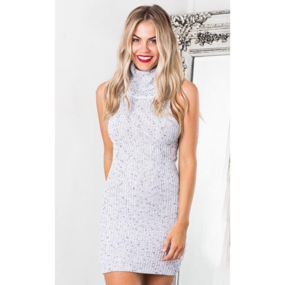 4cc5ba0ed2 Showpo grey knit sweater dress. M 5a6bedbc077b9775b57096e1
